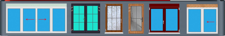 Kunststofffenster und Aluminium Haustür